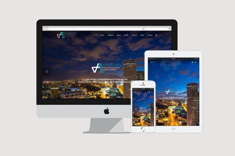 בניית אתר תדמית עבור Alma Links