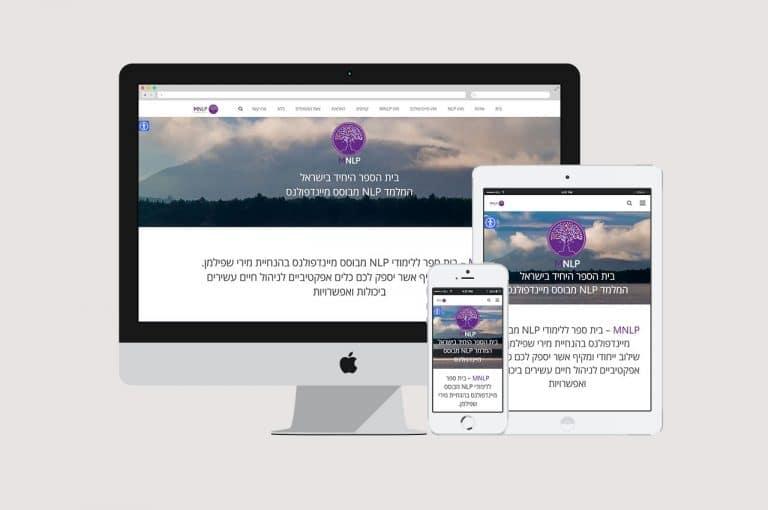 בניית אתר אינטרנט תדמיתי רספונסיבי עבור MNLP