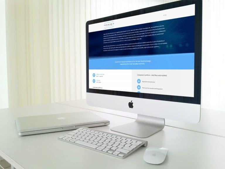 פיתוח דפי נחיתה עבור קרן איילון סטארטאפ טכנולוגיה עלית