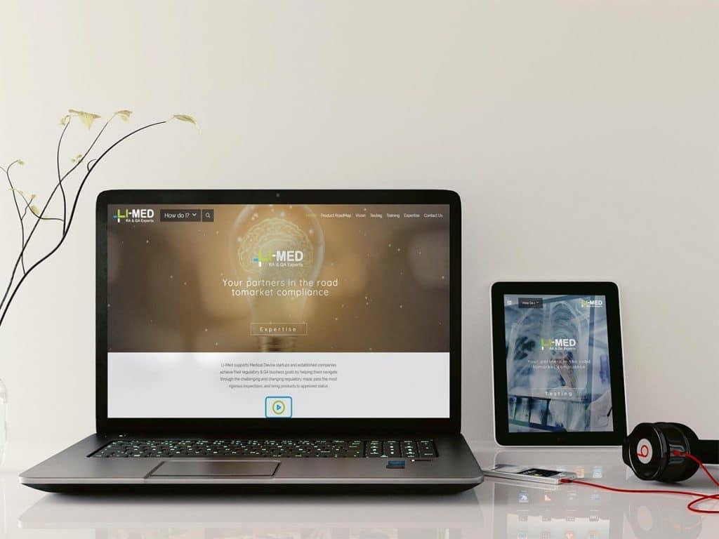 בניית אתר אינטרנט רספונסיבי עבור LI MED