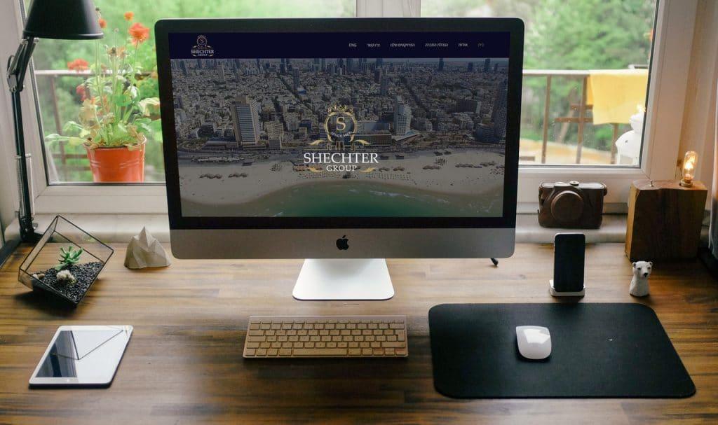 בניית אתר תדמיתי עבור קבוצת שכטר