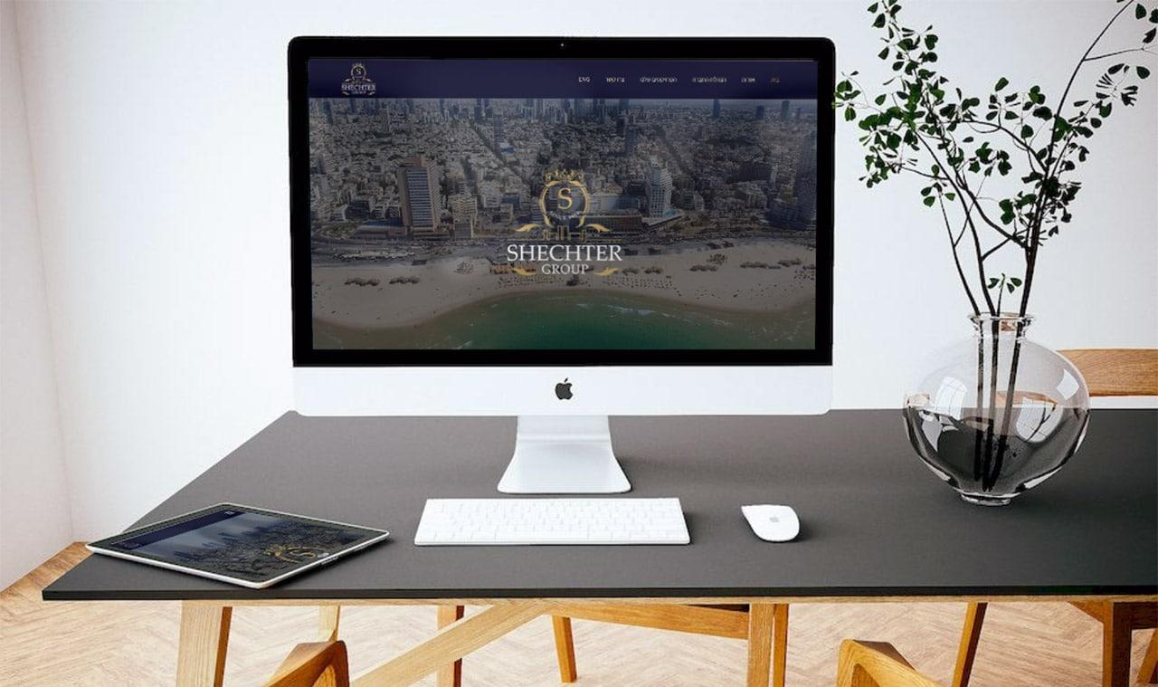 בניית אתר אינטרנט עבור קבוצת שכטר