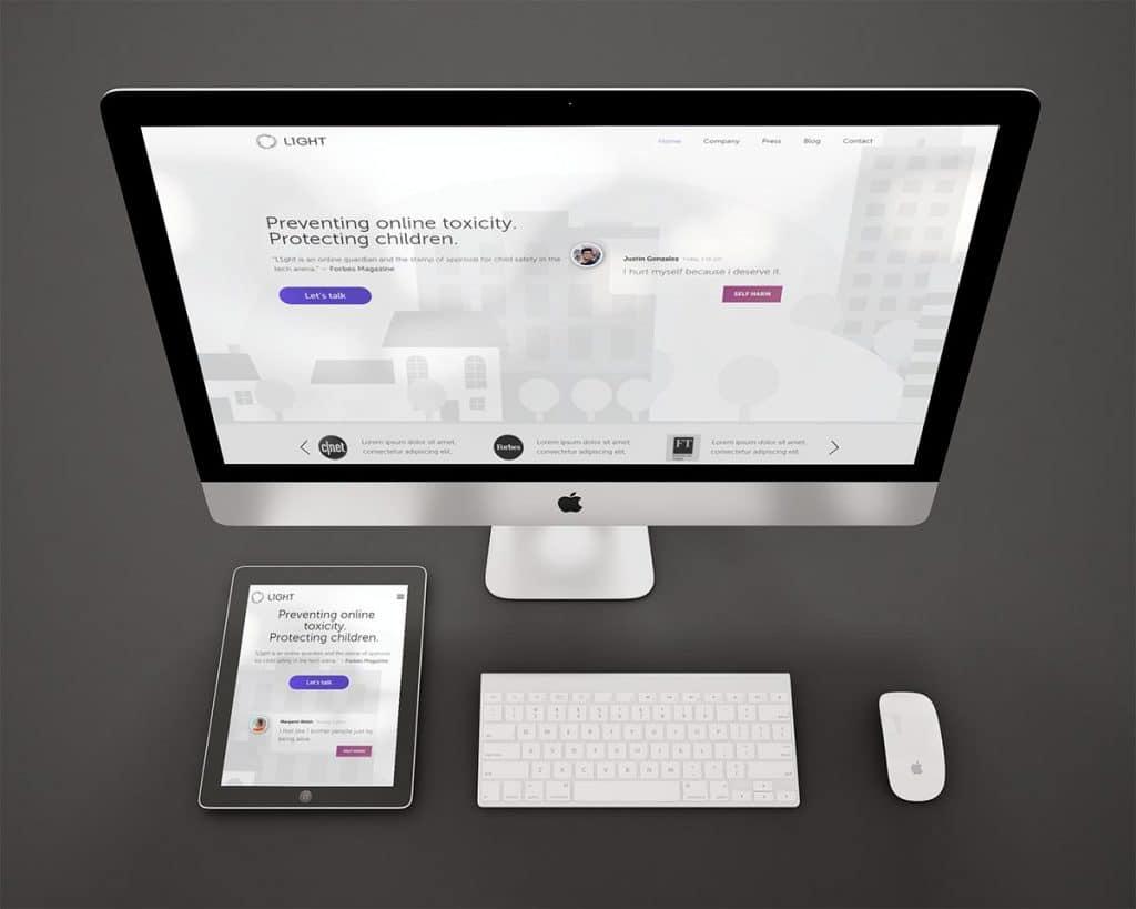 בניית אתר אינטרנט עבור L1ght