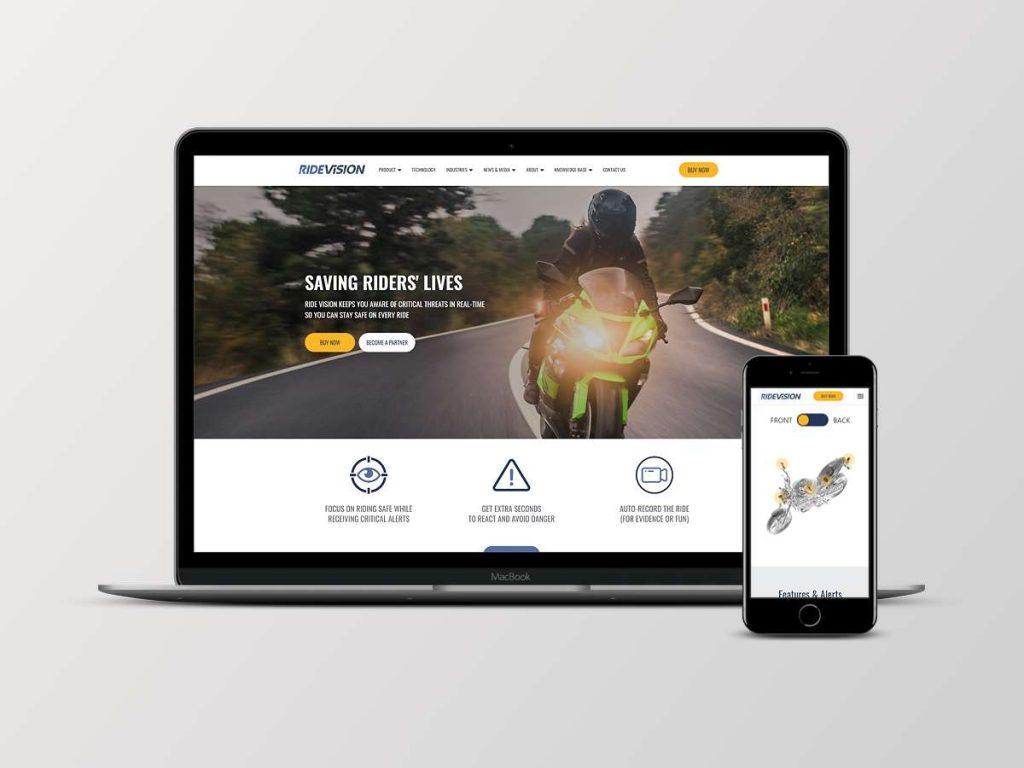 בניית אתר אינטרנט עבור ride vision