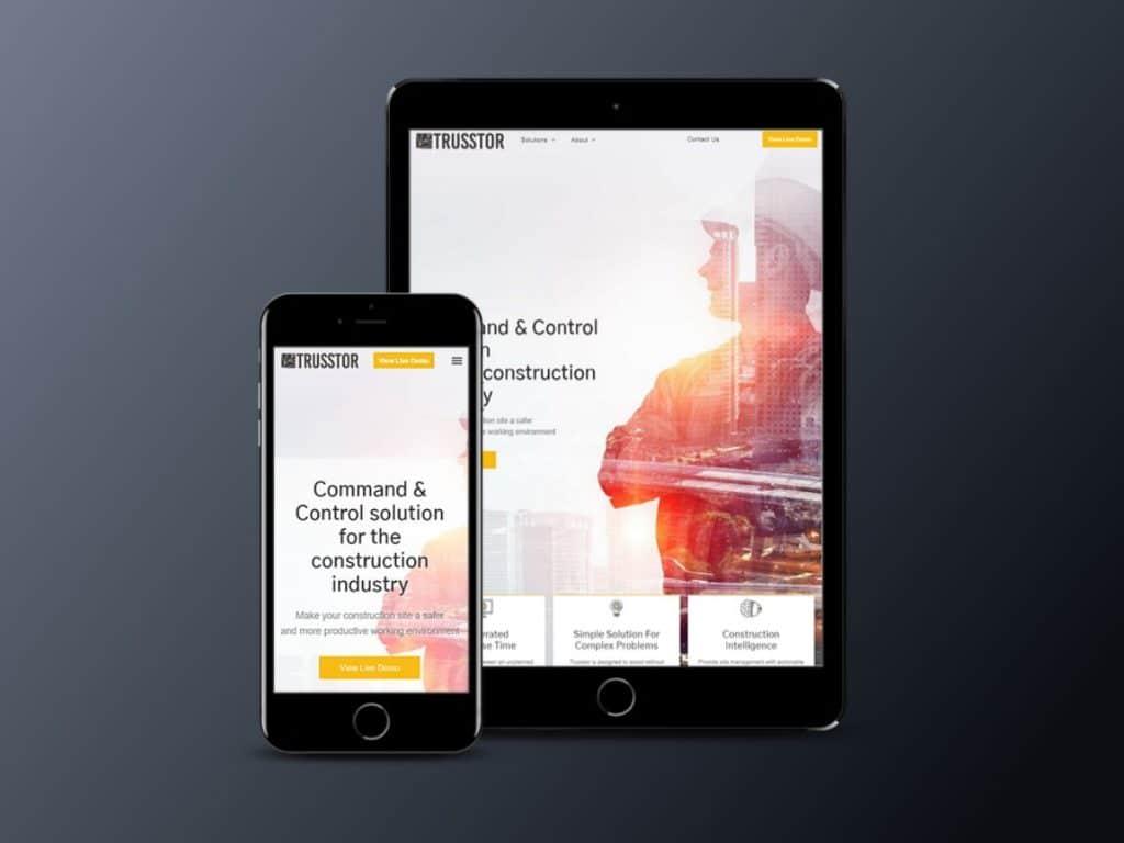 בניית אתר אינטרנט תדמיתי עבור TRUSSTOR